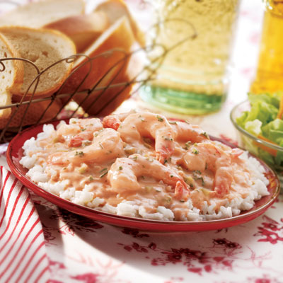 Southern-Style Creamy Shrimp Over Rice