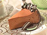 Chocolate Fudge-Mint Cheesecake