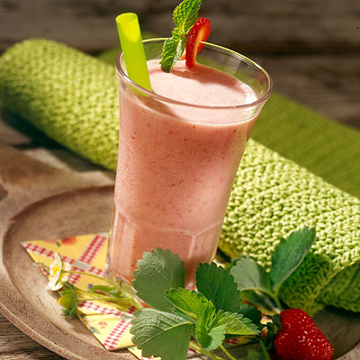 Sensational Strawberry-Mint Smoothie