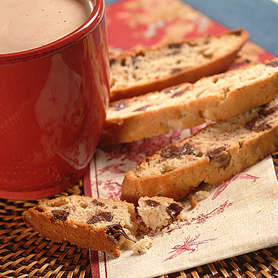 Raspberry Almond Chip Biscotti