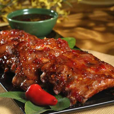 Sweet Heat Glazed Ribs