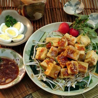 Cucumber and Fried Tofu Salad