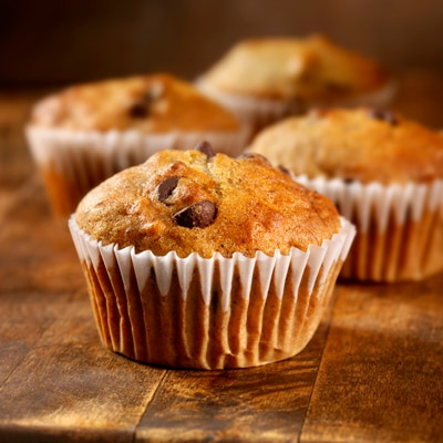 Banana Mini-Chip Muffins