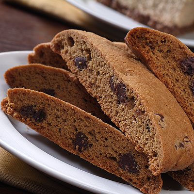 Coffee Chocolate Chip Biscotti