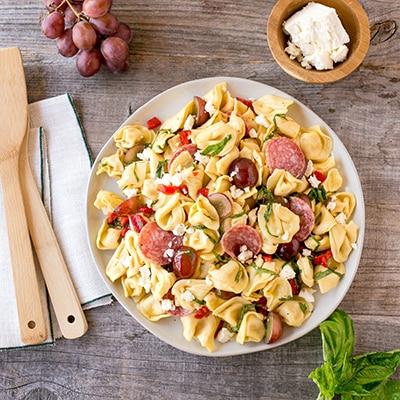 Mediterranean Pasta Salad (Lighter)