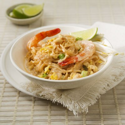 """At Home"" Pad Thai with Creamy Peanut Sauce"