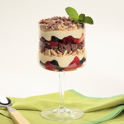 Berry Parfaits with Orange Cream Sauce