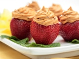 Dulce de Leche-Filled Strawberries