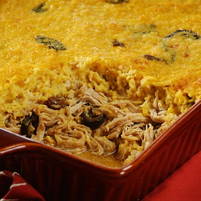 Traditional Chilean Corn & Chicken Pie
