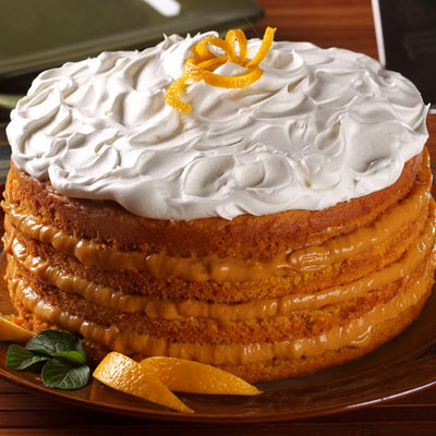 Pumpkin Torte with Orange Cream Filling