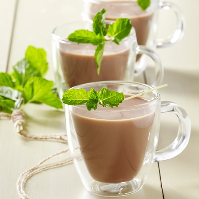 Fresh Mint-Infused Hot Cocoa