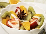 Anise Fruit Salad with La Lechera Drizzle