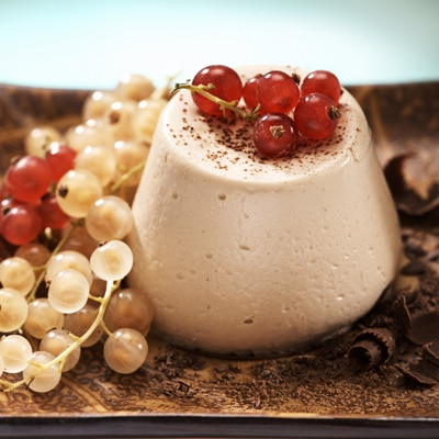 White Chocolate Caramel Panna Cotta