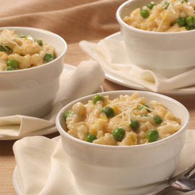 Simple Risotto with Peas & Parmesan