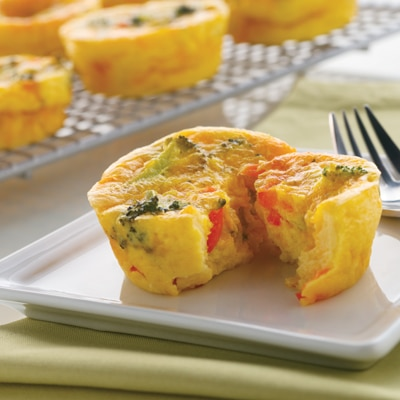 Crustless Broccoli & Cheddar Mini Quiches