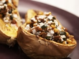 Chorizo and Corn Stuffed Butternut Squash
