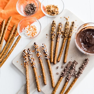 Spook-tacular Chocolate-Dipped Pretzels