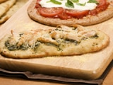 Pesto Chicken Flatbread Pizzas