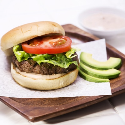 Cumin Burgers with Thousand Island Dressing