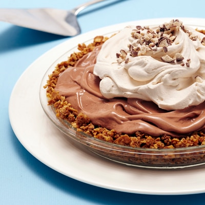 Malted Ice Cream Pie with Waffle Cone Crust