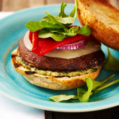 BUITONI® Grilled Portobello Burgers with Pesto Mayo