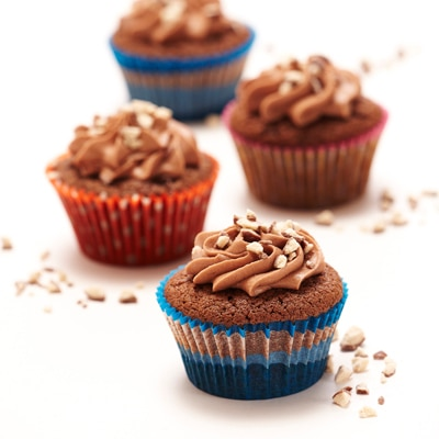Chocolate Malt Cupcakes with Malted Buttercream