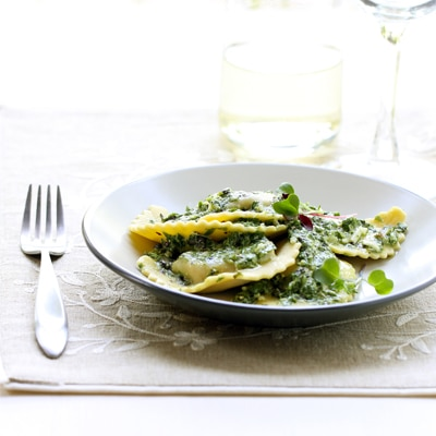 BUITONI® Mushroom Agnolotti with Fresh Herb Pesto