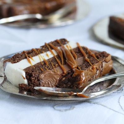 Black & White Brownie Terrine