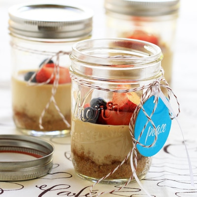 Coffee Cheesecakes in Jars