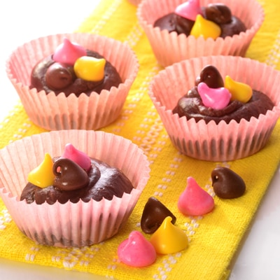 Homemade Easter Fudge Cups