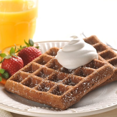 Chocolate Brunch Waffles