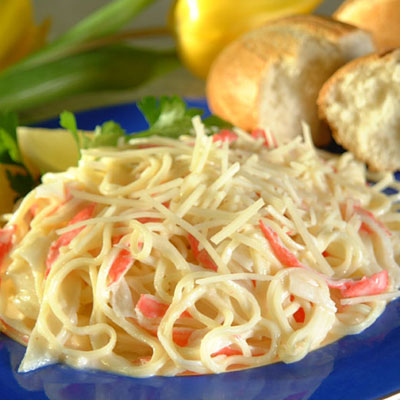 BUITONI® Angel Hair Pasta and Crab With Alfredo Sauce