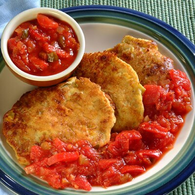 Chile Corn Pancakes With Salsa