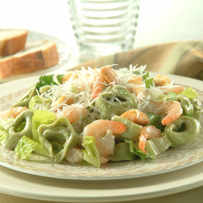 Tortellini and Shrimp Caesar Salad