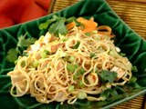 Angel Hair Pasta and Chicken with Asian Dressing