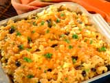Black Bean, Chicken and Cheese Bake
