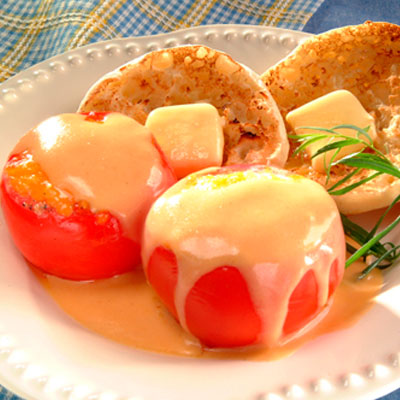Egg Stuffed Breakfast Tomatoes