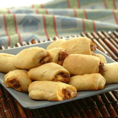 Mini Beef and Pepperoni Pizza Rolls