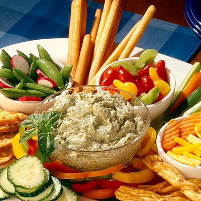 Pesto Party Dip (Lighter)