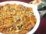 Mocha Sweet Potatoes Casserole with Toasted Pecans
