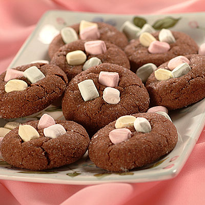 Chocolate Mint Drop Cookies