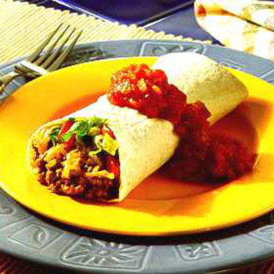 Garlic Chicken Burritos