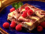 Double Chocolate Raspberry Swirl Cheesecake Bars