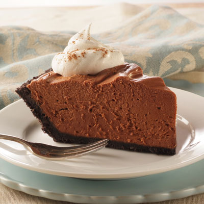 No-Bake Chocolate Cheesecake Pie Recipe | Meals.com