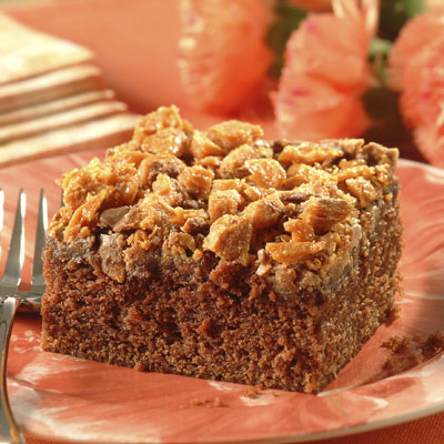 Crumble-Topped Chocolate Peanut Butter Cake