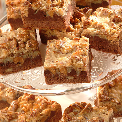 Chocolate Pretzel Coconut Layer Bars