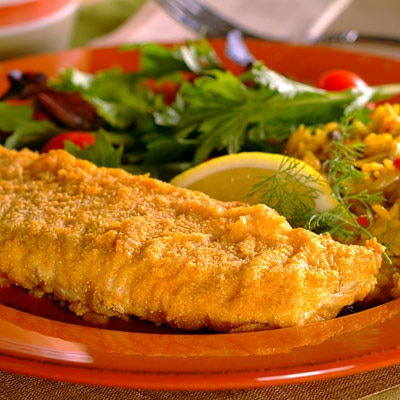 recipe for oven fried fish fillets
