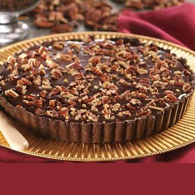 Chocolate Oblivion Caramel Pecan Tart Recipe | Meals.com