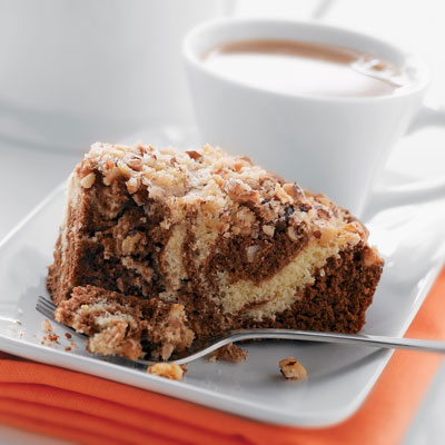 Sour Cream Coffee Cake with Chocolate Mocha Swirl