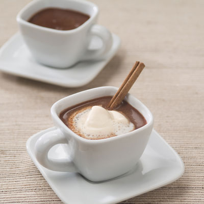 Mexican Hot Chocolate Shots with Spicy Foam